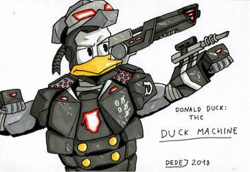 Donald Duck, the Duck Machine by DarthDestruktor