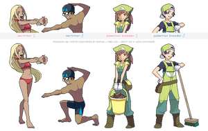 Pokemon XY trainer sprites ( II ) by Nephae