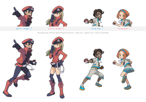 Pokemon XY trainer sprites ( XI ) by Nephae