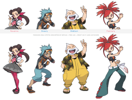 (POKEMON ORAS) gym leaders part one by Nephae
