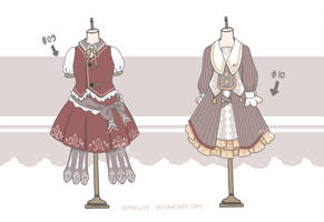 [OPEN 2/2] - Adoptable Set 5 - Uniform Look by Demifluff