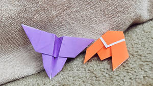 Origami Butterfly and Cicada by TheSpeedyPony