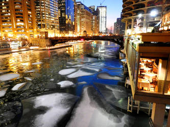 Dinner at Icy River by kilroyart