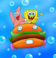 SpongeBob and Patrick by kilroyart