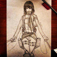 Mikasa Ackerman from Attack On Titan by KarmaSound91