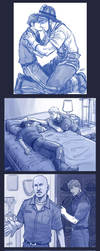 sketches - AU Young Avengers by Cris-Art
