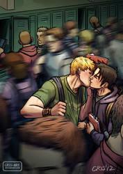 Kissing by Cris-Art