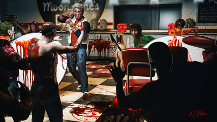 Scooby Doo vs. the Diner Zombies by MrSynnerster