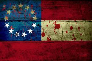 Grunge Flag of Confederacy (1) by evmir1