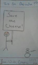 Hug a cheese! by madpiratebunny