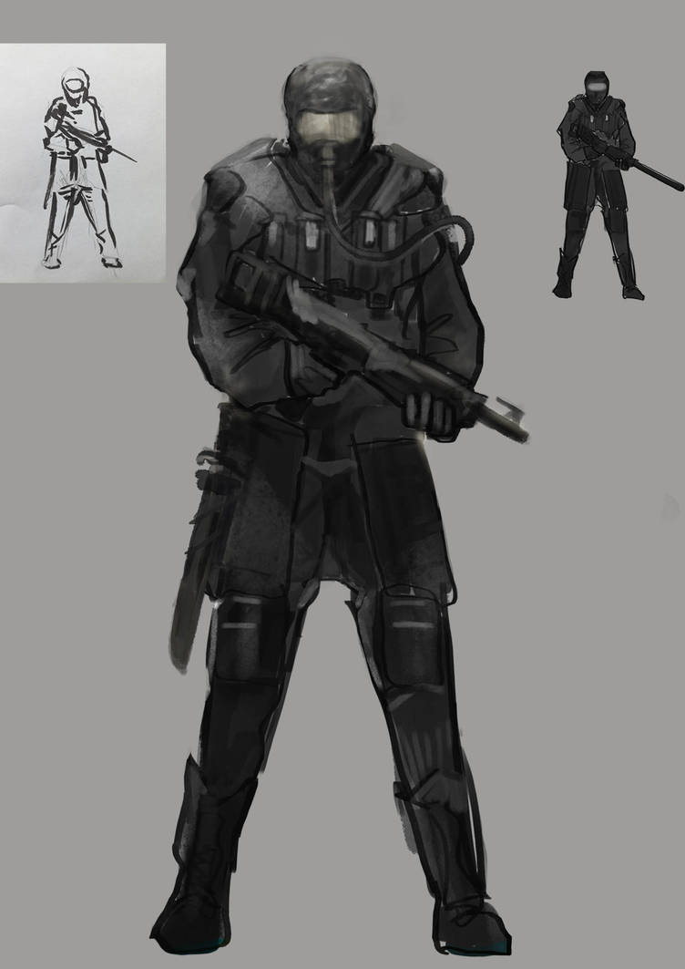 Postapo Soldier by MikaZZZ