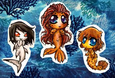 Mermaid Chibi's 2 by Inya-spring
