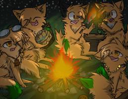 Campfire-PocketGod by Yirina