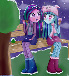 -Talking in the Snow- by VixelZF
