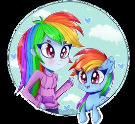 Rainbows! (+SpeedPaint) by VixelZF