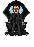 Clark Kent on Metron's Chair by HNutz