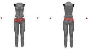 MMD Tight Shiny Leather Outfit + DL by XDONOTENTERX