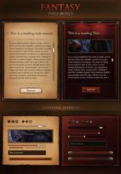 Fantasy Info Boxes 2.0 by KodiakGraphics
