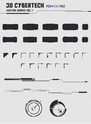 30 Cybertech Shapes Vol. 1 by KodiakGraphics