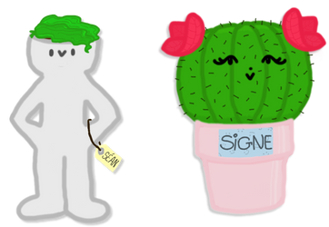 Sean and Signe - Grayson and Cactus by DarkRose-chan