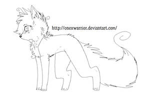 Free Wolf Lineart by OneXWarrior