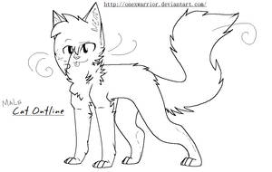 Male Cat Outline -hair by OneXWarrior