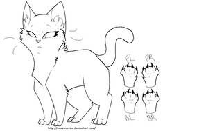 Female Cat Outline NEW by OneXWarrior
