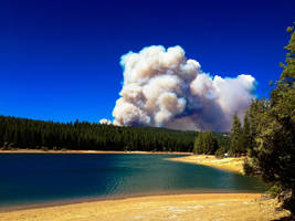 King Fire from Sly Park Lake by StephGabler