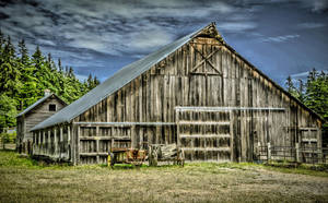 Whidbey Barn by StephGabler