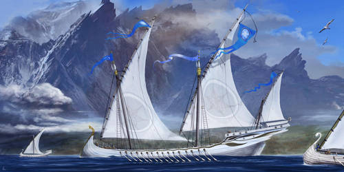 Ships of the Grey Havens by Efberg