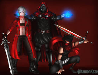 Dante, Strider and Doctor Doom. by KamonKaze