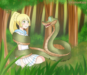 Lillile hypnotized for Kaa by KamonKaze