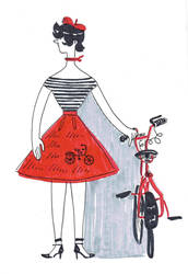 la petite bicyclette rouge by JustIsAwesome