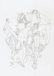 le chevailer et la fleur by JustIsAwesome