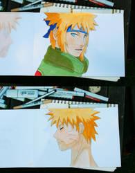 Minato and Naruto by Septdeneuf