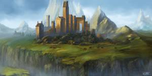 mountain landscape by vennom07
