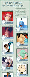 My Top 10 Animated Guys :) by Karona25