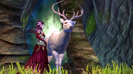 Lumawi and the White Stag - Guild Wars 2 by Akopito