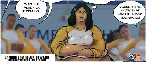 Veronica Fudge Pinup-Comic by AloysiusEroticArt
