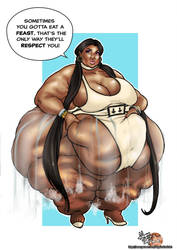 Nicki Minaj 890lbs by AloysiusEroticArt