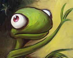 Lizard Doesn't Catch a Bug by notkristina