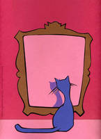 A cat in the mirror by notkristina
