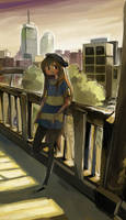 Robin in the City by ashwara