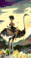 Ostrich Lady by ashwara