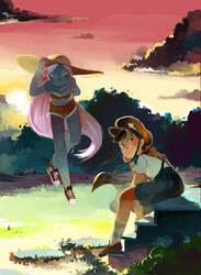 Yurika and Sunny by ashwara