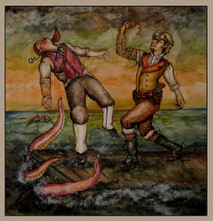 Duel on the Docks by hever