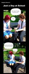Kingdom Hearts II - Just a Day at School by YumiKoyuki