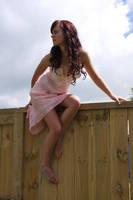 On the fence 1 by CathleenTarawhiti