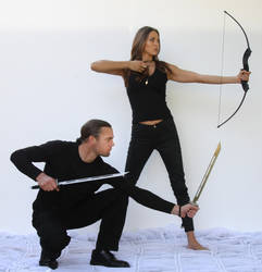 Couple fighting poses 13 by CathleenTarawhiti