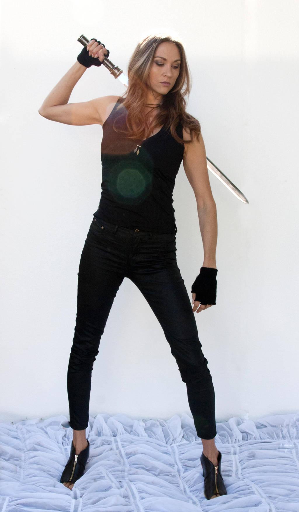 Action pose - woman 11 by CathleenTarawhiti